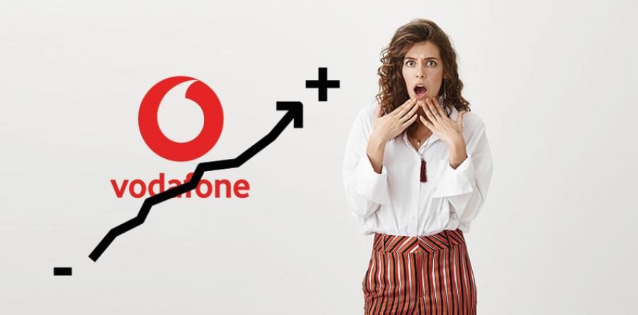 Dal 10 Novembre aumento di 2,50€ per offerte Vodafone Rete Fissa.